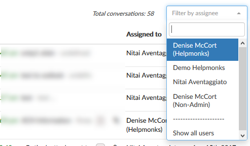 Filter emails by an assignee