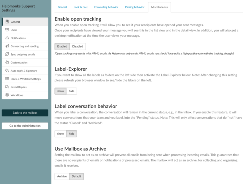 You can now use your Helpmonks mailboxes as an email archive
