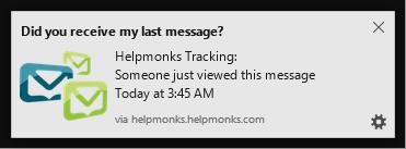 New in Helpmonks: Open Tracking