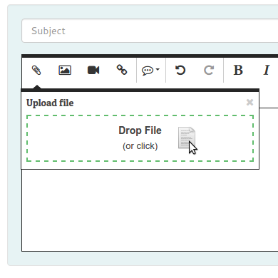 New editor brings option to add attachments and inline images