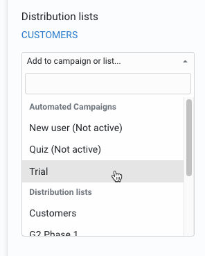 Add users to campaigns
